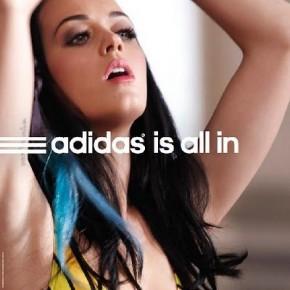 Katy Perry, chanteuse pop, pour Adidas