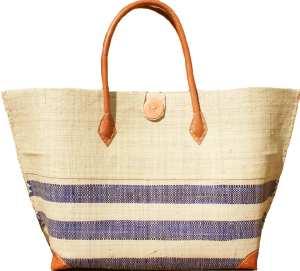 sac cabas blanc bleu