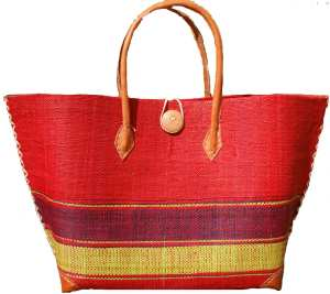 sac cabas rouge