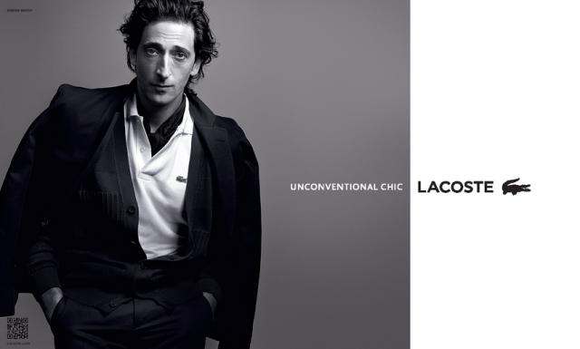 Adrien Broody, l'élégance incarnée, prête son image à Lacoste. Plutôt convaincant ;)
