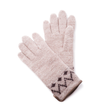 Womens woolen gloves on a white background