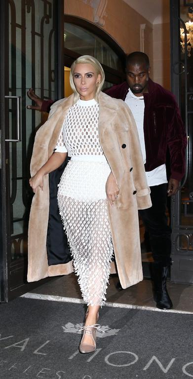 le blond platine de kim kardashian