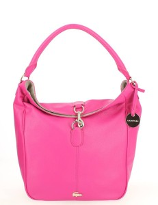 Sac épaule LACOSTE Daily Classic Hobo Rose, 245 €